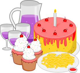 childrens birthday meal PNG