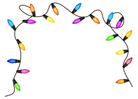 Chirstmas Lights  Blue Purple Green PNG