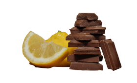 Choclate Stack with Lemon PNG