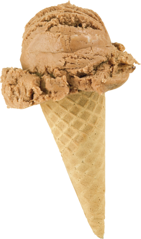 Chocolate Ice Cream Cone PNG
