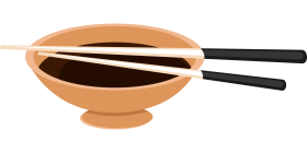 Chopsticks on a Bowl PNG