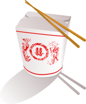 Chopsticks on a Noodles Box PNG
