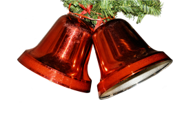 Red Christmas Bell PNG