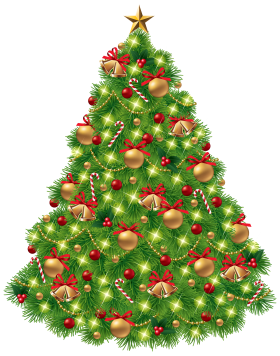 X-mas Tree with Decoration PNG