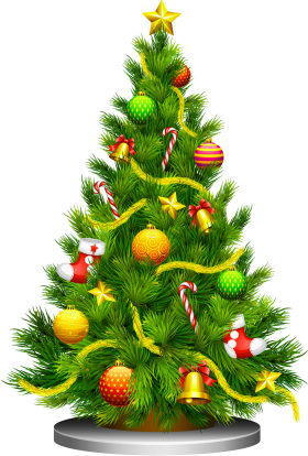 Festive Christmas Tree PNG