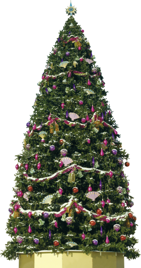 Big Decorative Christmas Tree PNG
