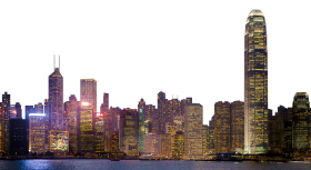 City At Night Skyline PNG
