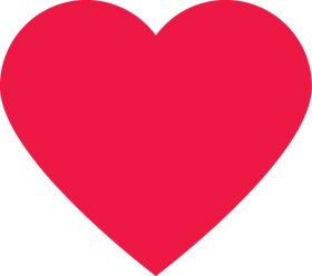 Classic Red Heart PNG