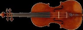 classic wooden Violin PNG