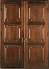 closed wooden door PNG