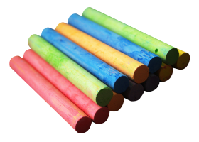 Color Chalk Pieces PNG
