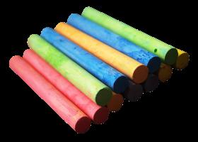Color Chalk Pieces PNG