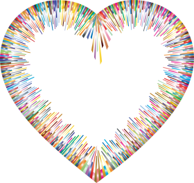 Color Spectrum Heart Shape PNG