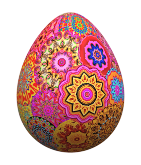 Colorful Easter Eff PNG
