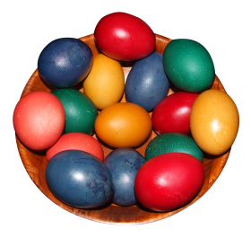 Colorful Eggs in a Pot PNG