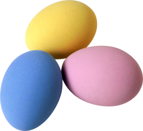 Colorful Eggs PNG