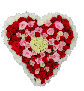 Colorful Flower Heart PNG