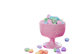 Colorful heart candies PNG