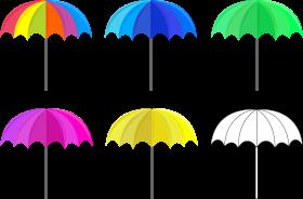 Colorful Umbrella PNG