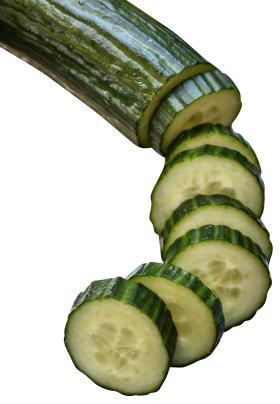 Cucumber in slices PNG