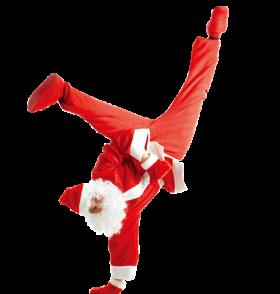 Dancing Santa Claus PNG
