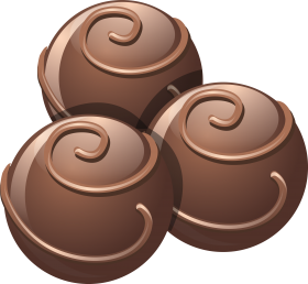 Dark Chocolate Scoops PNG