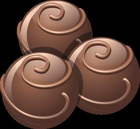Dark Chocolate Scoops PNG
