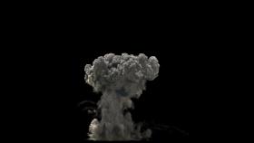 Dark Smoke Explosion PNG