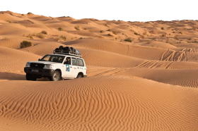 Desert Crossing with a Toyota 4-Wheel Drive PNG