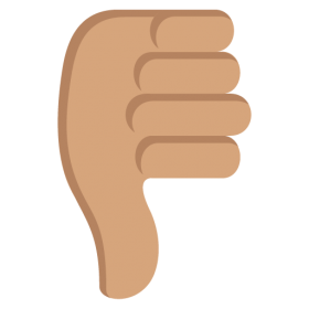 Dislike Symbol Emoji Pointing down PNG