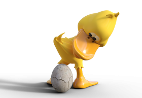 Duck Having an Egg PNG