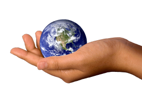Earth On A Hand PNG