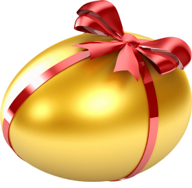 Egg Wrapped  in Red Ribbon PNG