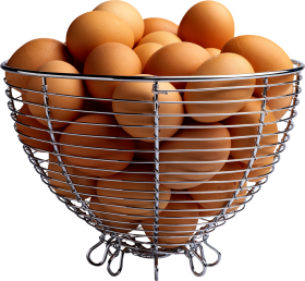 Eggs in Basket PNG