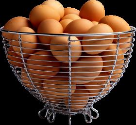 Eggs in Basket PNG