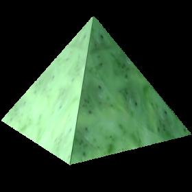 Green Marble Pyramid PNG