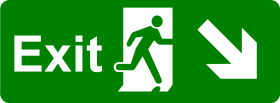 Exit Sign Green PNG