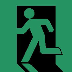 Exit Symbol Green PNG