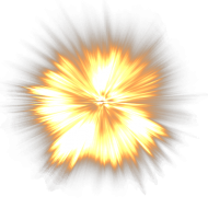 Sparkling Flame Fire Explosion PNG