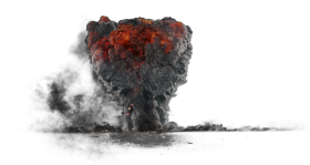 Explosion with Dark Smoke PNG