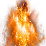 Fire Flame Sparkling Explosion PNG
