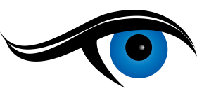 Eye Ball in Blue Color PNG