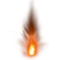 Fire Explosion Sparkling PNG