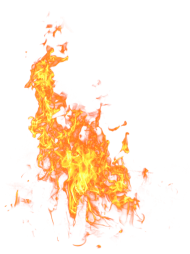 Bright Big Fire Flame PNG