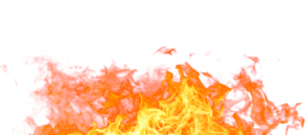 Hot Sparkling Fire Flame on the Ground PNG