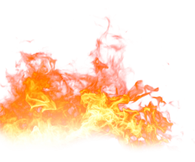 Fire Flaming on the Ground PNG