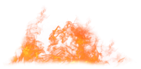Blaze Fire Flame on the Ground PNG