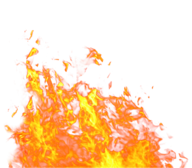 Fire Flame on Ground Big PNG