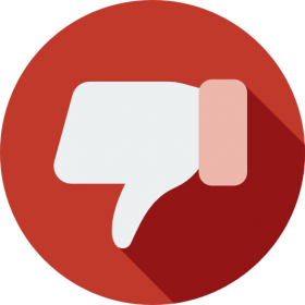 Flat Design Dislike Button PNG