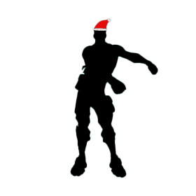 Floss Fortnite Christmas Siloet PNG